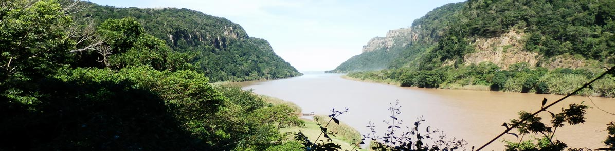 The Mzimvubu River, seen from The Gates of Port St Johns